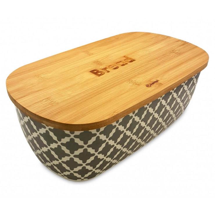 Wykonany z pudru bambusowego oraz melaminy pojemnik na piewczywo